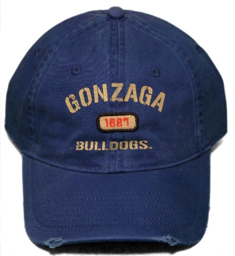 New! Gonzaga University Bulldogs - Adjustable Buckle Back Distressed Cap (Gonzaga Cap compare prices)