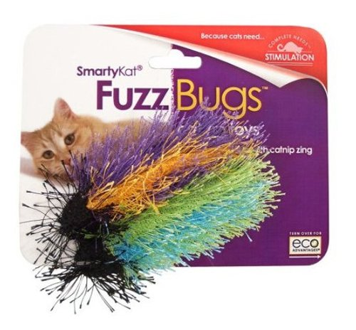 See SmartyKat Fuzz Bugs Cat Toy Catnip Toy 2 Pack
