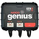 NOCO Genius GEN2 20 Amp 2-Bank Waterproof Smart On-Board Battery Charger ~ NOCO