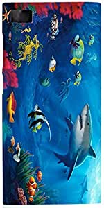 Snoogg Underwater Life 2727 Case Cover For Xiaomi Mi 3
