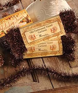 Old Fashioned Tinsel Garland Copper