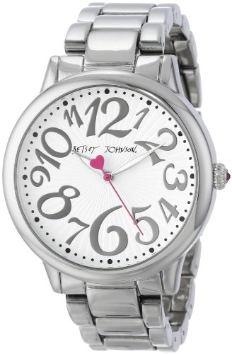 Betsey Johnson Women's BJ00084-46 Analog Silver Case and Bracelet Watch