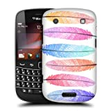 Head Case Designs Colourful Silhouette Aztec Feathers Protective Snap-on Hard Back Case Cover for BlackBerry Bold Touch 9900