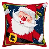 Vervaco Father Christmas Cross Stitch Cushion Multi Colour