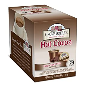 Grove Square Hot Cocoa, Dark, 24 Count Single Serve Cup for Keurig K-Cup Brewers