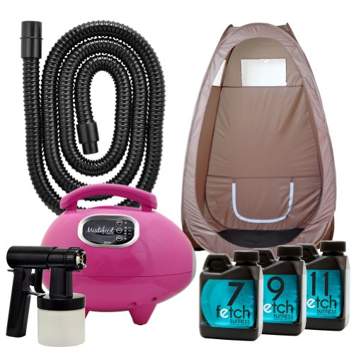 Mistified Pink Spray Tanning Machine Fetch Sunless Dha Spray Brown Tent Kit 1A front-779446