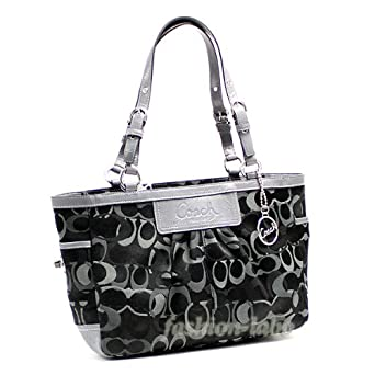 coach bag black and gray of5h  coach bag black and gray