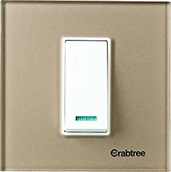 Crabtree ACMPGCLV01 Murano1 Module Glass Cover Plate (Stone Beige)