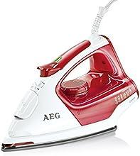 AEG Dampfbügeleisen 4Safety PLUS DB 5210 (2200 Watt, 100g Dampfstoß, Glissium 80 Bügelsohle, Abschaltautomatik, Anti-Kalk System) rot/weiß