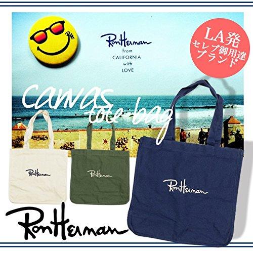 Ron Herman【ロンハーマン】 ロゴトートバッグ【並行輸入品】 (Navy)