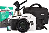 Fuji FinePix S4800 Camera Kit with Case, 4GB Memory Card, HDMI, Screen Protector and Desktop Tripod - White