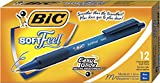 BIC Softfeel Clic Grip 8362361 Penna a sfera, spessore tratto 0,4 millimetri confezione da 12 blu