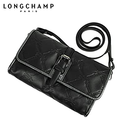 Longchamp LM Cuir Crossbody Bag, Black/Nickel