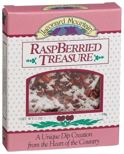 Leonard Mountain Raspberried Treasure Fruit Dip, 2-Ounce. Boxes (Pack of 6)