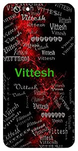 Vittesh (Lord Of Wealth) Name & Sign Printed All over customize & Personalized!! Protective back cover for your Smart Phone : Apple iPhone 6