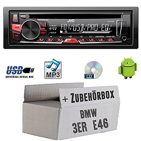 BMW 3er E46 - JVC KD-R461E - CD/MP3/USB Autoradio - Einbauset