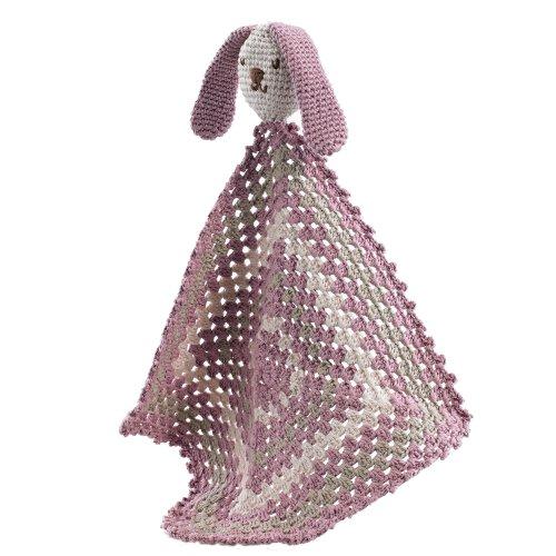 Organic sleepy bunny - dusky pink
