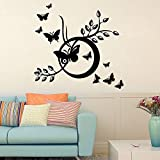 Decal Style ButterFlies Swings Wall Sticker Tiny Size-17*19 Inch