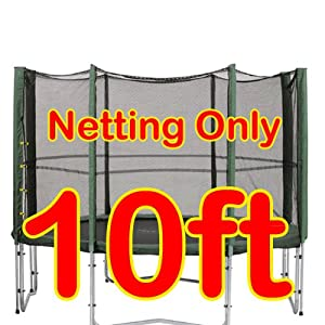 10ft Replacement Netting For Trampoline Enclosure - (Net Only) - For Trampoline With 8 Poles