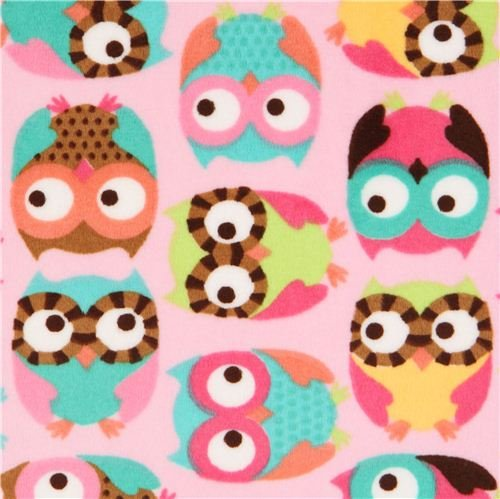 Minky Owl Fleece Fabric