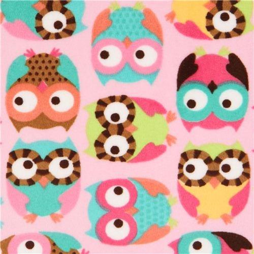 Minky Owl Fleece Fabric