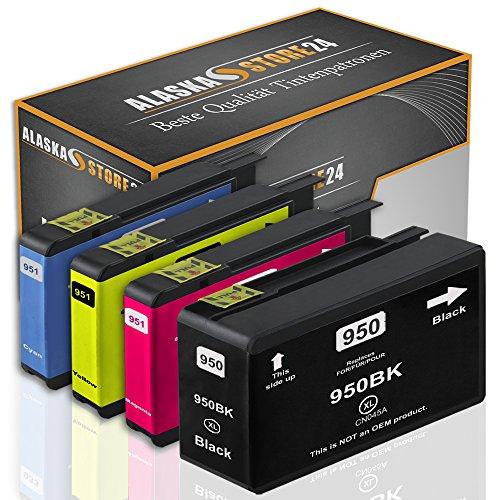 Set 4x Druckerpatronen Tintenpatronen Ersatz für Hp 950 XL + 951 XL (1x black + 1x Cyan + 1x Magenta + 1x Gelb) Ink Cartridge Original VueSerie