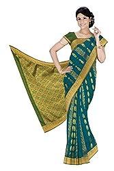 Srinidhi Silks Blue Silk Sari (Ssi 2016 40)
