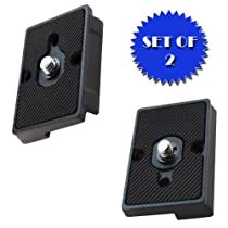 Quick Release Plate for the RC2 Rapid Connect Adapter (SET OF 2) for MANFROTTO 391RC2