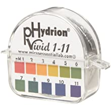 Micro Essential Lab Polystyrene Hydrion Vivid pH Test Paper Dispenser, Double Roll