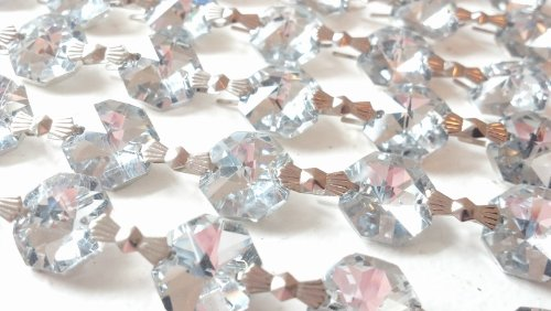 5 Feet Silver Chandelier Crystal Prism Chains (Crystal Asfour compare prices)