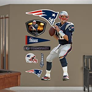 NFL New England Patriots Tom Brady Quarterback Wall Graphics by Fathead
