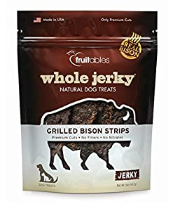 Fruitables Dog Treat, 5-Ounces, Whole Jerky Grilled Bison Strips (Pack of 3)
