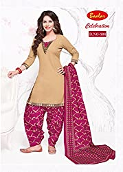Taos Brand cotton dress materials for women womens dress materials cotton salwar suit New Arrival latest 2016 womens party wear Unstitched dress materials for women (508 summer__multicolour and brown_freesize