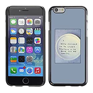 Omega Covers - Snap on Hard Back Case Cover Shell FOR Iphone 6/6S (4.7 INCH) - Happy Health Food Thought Quote