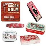 Bacon Bath & Grooming Kit Gift Pack (4pc Set) - Bacon Soap, Toothpicks, Breath Mints & Lip Balm + Silicone Wristband