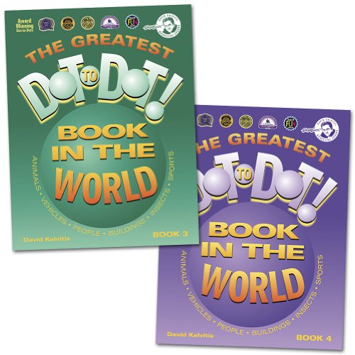 The Greatest Dot To Dot In The World Books 3 & 4 Connect The Dots Game Books front-449868