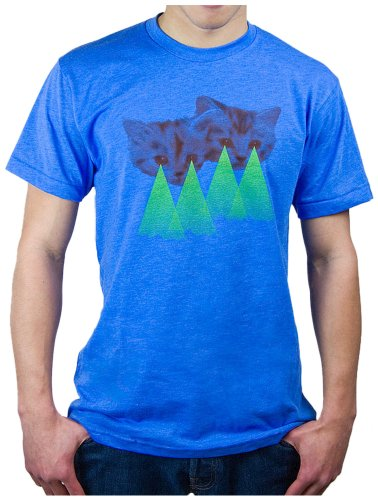 Choke Shirt Company Men's Laser Kitten Tee -Medium Heather Lake Blue (Choke Shirt Company compare prices)