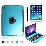 iPad Mini 4 Keyboard Case, BoriYuan Bluetooth Wireless Keyboard Folio Flip Smart Cover for Apple iPad Mini 4 2015 Release with Folding Stand and Auto Sleep/Wake Function, Blue (Color: Blue, Tamaño: iPad Mini 4)
