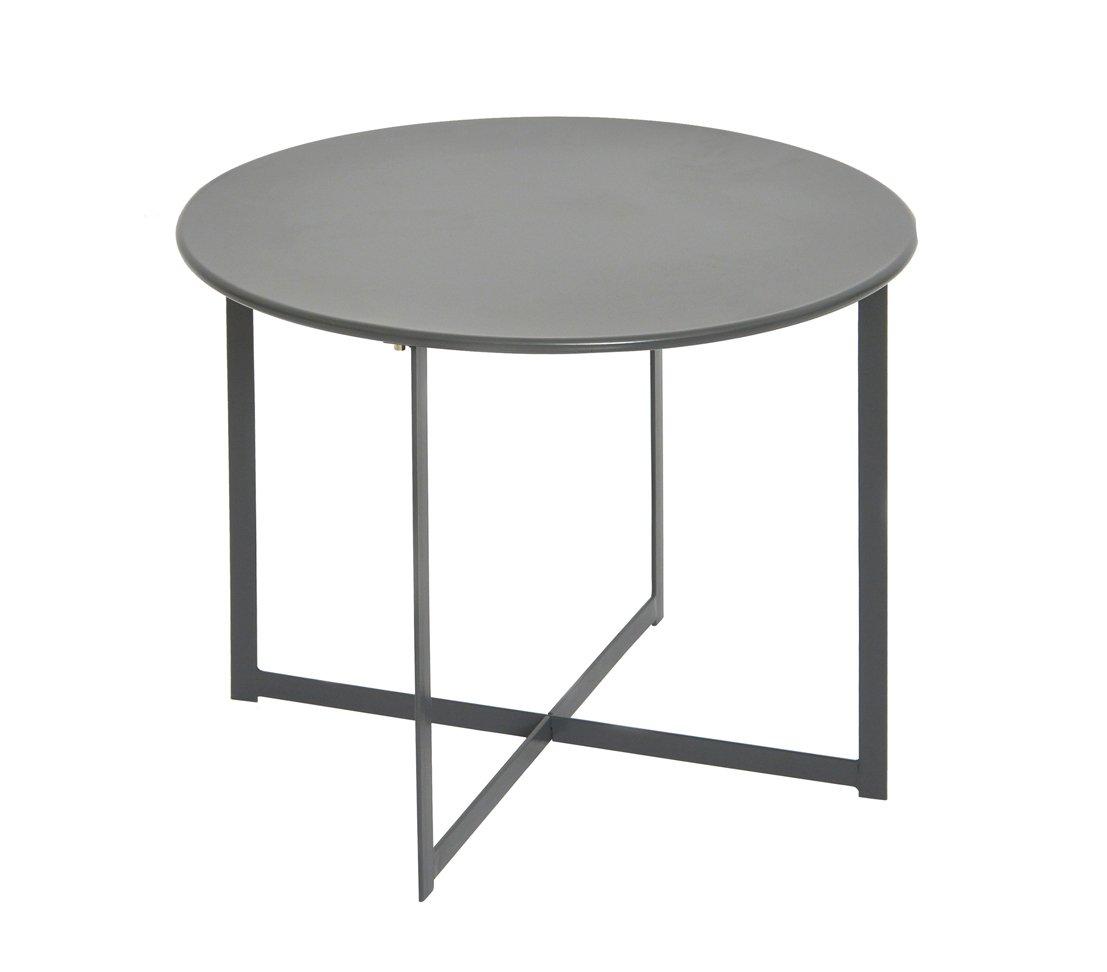 Dehner Beistelltisch Avingnon, Ø 40 cm, Höhe 35 cm, Stahl, anthrazit online kaufen