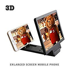 DFSs quality Universal 3D SCREEN MAGNIFIER - HD VIDEO AMPLIFIER -- with foldable holder stand For Iphone Samsung And Other Smart Phones (Colors may vary)