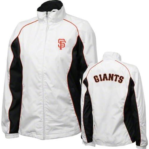 San Francisco Giants Womens White Full Zip Track Jacket