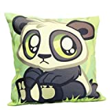 Cushion with Cute Panda print,cute panda cushion,Cushion for Kids, Romantic Gifts, Gift for Girlfriend, Cushion for decoration, Birthday gift, Gifts for Girls, Birthday gift for kids GIFTS995