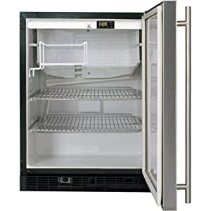 ADA Height Refrigerator Color: Stainless Steel, Hinge: Left