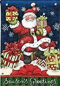 Santa's Gifts Christmas Garden Flag Presents Boxes BreezeArt 12.5