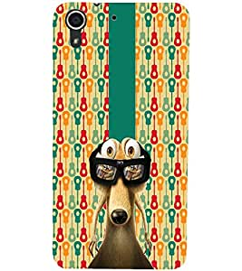 PrintDhaba Scrat D-5630 Back Case Cover for HTC DESIRE 728 (Multi-Coloured)