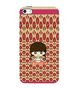 Ifasho Cute Girl Animated Back Case Cover For Apple Iphone 4