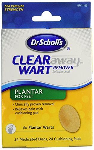 dr-scholls-clear-away-wart-remover-medicated-disks-plantar-for-feet-gegen-fuss-warzen-24-stk