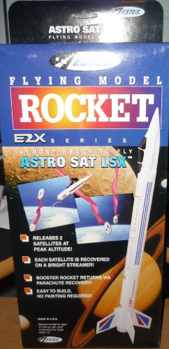#2133 Estes E2X Series Astro SAT LSX Flying Model Rocket Kit,Needs Assembly