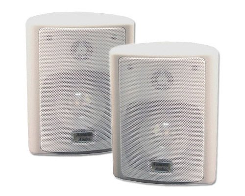 Acoustic Audio 151W Indoor/Outdoor Speakers (White, 2)