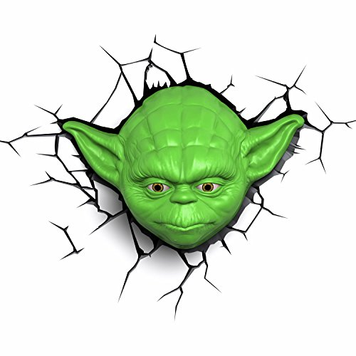 Lampada da parete 3D Star Wars - Yoda con Timer e Telecomando